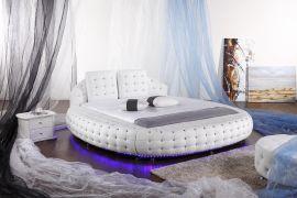 Rund Säng Belize Lux 180x200cm Vit
