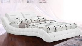 Bed Bergamo Lux 160-180cm-160x200cm-white