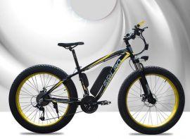 Elcykel MTB Fatbike på 26″-hjul, 350w motor, 48V 10Ah Litium batteri
