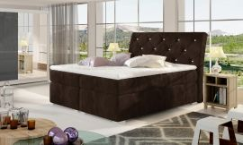 Boxspring bed Harriet -dark brown-160x200cm