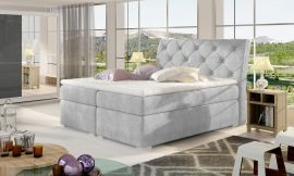Boxspring bed Harriet -light grey-160x200cm