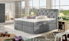 Boxspring bed Harriet -grey-160x200cm