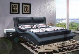 Bed Boston Lux 160-180-160x200cm-black