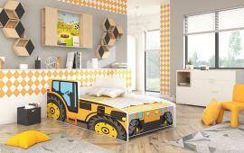 Barnsäng Tractor Gul