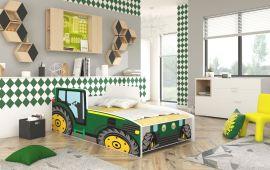 Barnsäng Tractor Grön