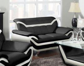 2-seater Sofa Calgary-black-white