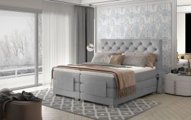 Adjustable Bed Set Astrid 160-180-160x200cm-light grey