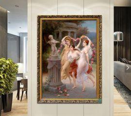 Väggplatta Cupid And Three Graces