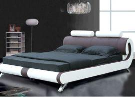 Säng Dallas Lux 160-180 brun-vit