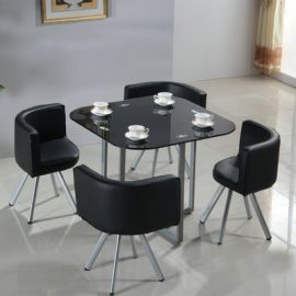 Dinning table set 4 chairs Dixon-black