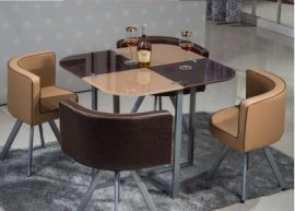 Dinning table set 4 chairs Dixon-brown