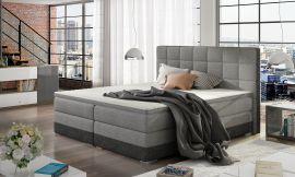 Boxspring bed Hillary -grey-160x200cm