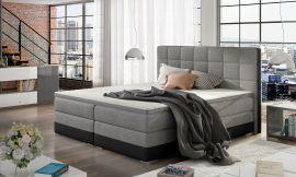 Boxspring bed Hillary -black-grey-160x200cm