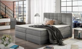 Boxspring bed Hillary -light grey-160x200cm
