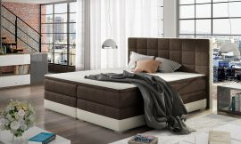 Boxspring bed Hillary -dark brown-160x200cm
