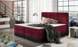 Boxspring bed Hillary -red-160x200cm