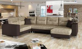 Corner sofa bed Fidel-brown-right