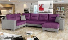 Corner sofa bed Fidel-purple-right