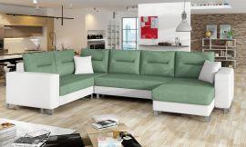 Corner sofa bed Fidel-light green-right