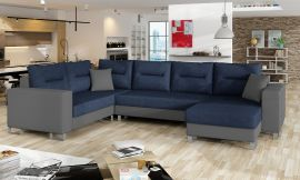 Corner sofa bed Fidel-dark blue-right