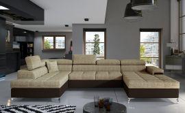 Corner sofa Foster-light brown-right