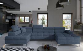 Corner sofa Foster-light blue-right