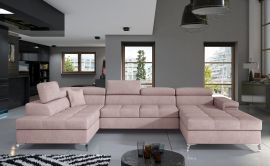 Corner sofa Foster-light pink-right