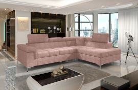 Corner sofa bed Fletcher -light pink-right