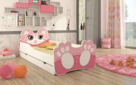 Children bed Bear-pink-140x70cm