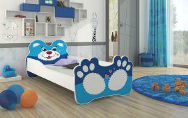 Barnsäng med madrass Bear 160x80cm blå