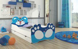 Children bed Bear-blue-140x70cm