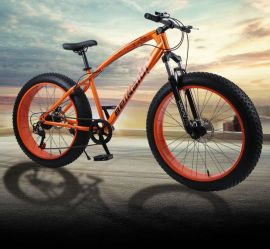 Fatbike MTB Cykel 4″ bred på 26″-hjul 21-växlad Shimano
