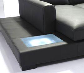 Ferrara Mini Corner Sofa-black