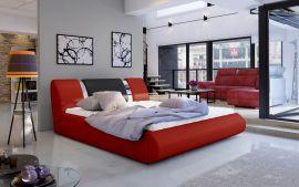 Bed Freya with storage 160-180-red-160x200cm