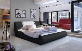 Bed Freya with storage 160-180-black-white-160x200cm