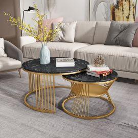 Round Coffee Table Fonsie-black