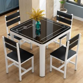 Dinning table set 4 Forbes-black
