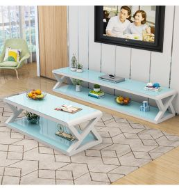 TV-Stand and coffee table set Gavin-white