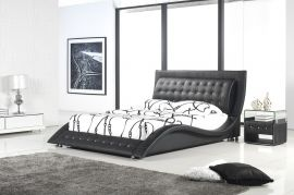 Bed Glendale Lux 160-180-160x200cm-black