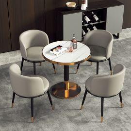 Dinning table set 4 chairs Gretel-light grey