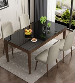 Dinning table set 4 chairs Hayward-black