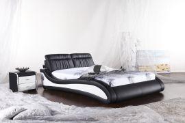 Säng Ibed Lux 160-180 svart-vit