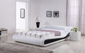 Säng Indeco Lux 160-180 svart-vit