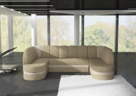 Corner sofa bed Heston-light brown