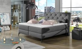 Boxspring bed Trudy -grey-160x200cm