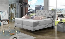 Boxspring bed Trudy -light grey-160x200cm