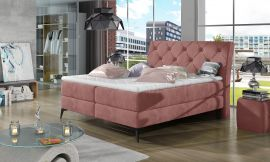 Boxspring bed Trudy -pink-160x200cm