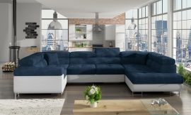 Corner sofa bed Inigo-dark blue-right