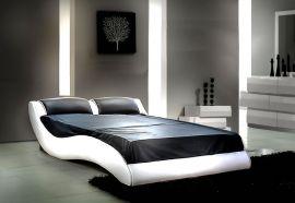 Säng Leon Lux 160-180 svartvitt