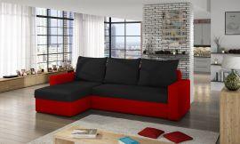 Corner sofa bed Jared-black-red
